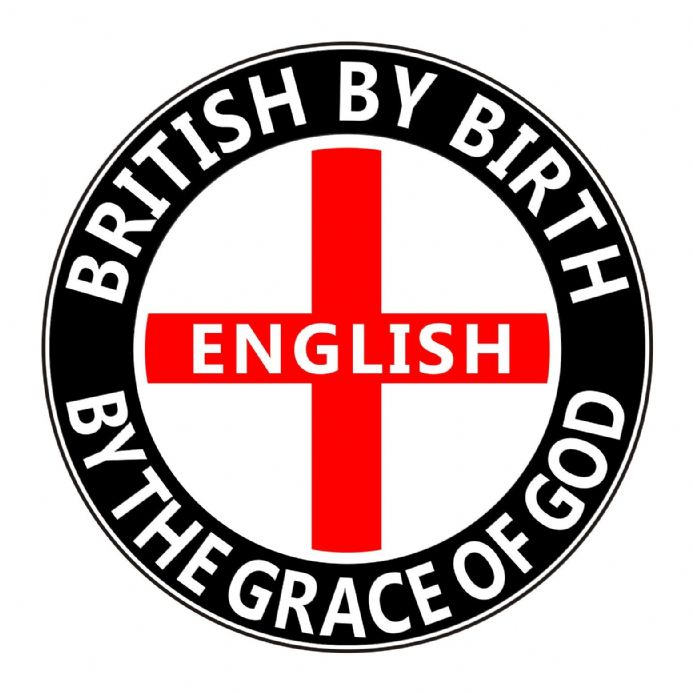 England Lorry Sticker - British By Birth English by the Grace of God